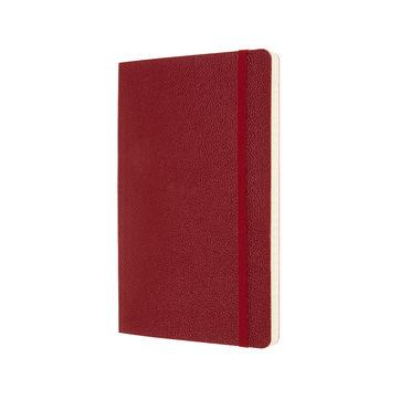 Moleskine - Classic Leather - notatnik w linie - wymiary: 13 x 21 cm; miękka skórzana oprawa