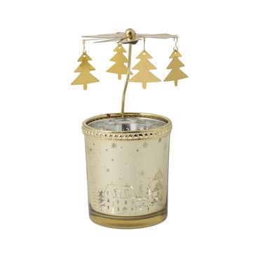 Villeroy & Boch - Winter Collage Accessoires - lampion na tealight z karuzelą - wysokość: 16 cm