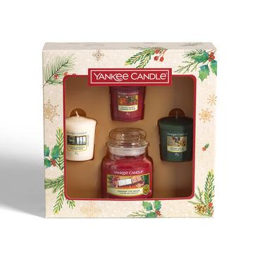 Yankee Candle - Magical Christmas Morning - zestaw prezentowy - 4 świece zapachowe - 1 świeca w słoiku i 3 świece typu votive
