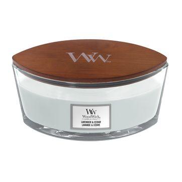 WoodWick - Lavender & Cedar - świeca zapachowa - aromatyczna lawenda - czas palenia: do 40 godzin