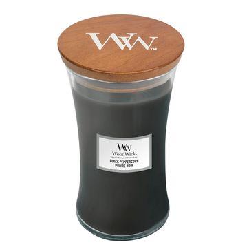 WoodWick - Black Peppercorn - świeca zapachowa - mocne przyprawy - czas palenia: do 120 godzin