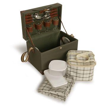 Sagaform - Picnic - kufer piknikowy - z wyposażeniem na piknik dla 4 osób