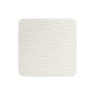 Villeroy & Boch - Manufacture Rock blanc - kwadratowy talerz do serwowania - wymiary: 32,5 x 32,5 cm