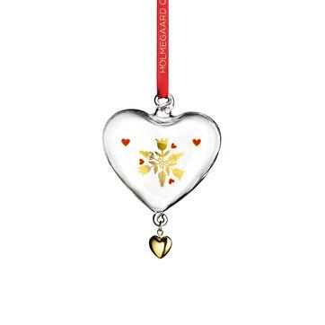 Holmegaard - Christmas - zawieszka serce - wysokość: 8 cm; stroik