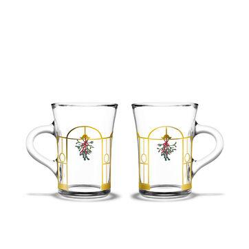 Holmegaard - Christmas - 2 szklanki do grzanego wina - pojemność: 0,24 l; dekoracje wiszące