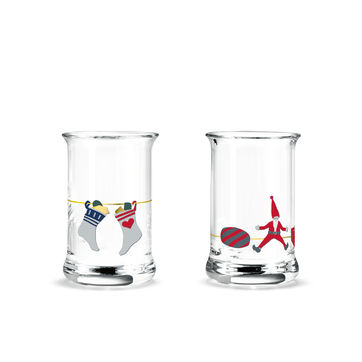 Holmegaard - Christmas - 2 kieliszki do wódki - pojemność: 0,03 l; dekoracje wiszące