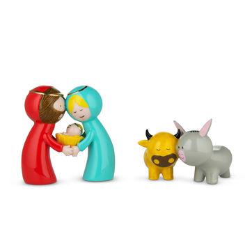 A di Alessi - Happy Eternity Baby - zestaw figurek bożonarodzeniowych - 2 elementy