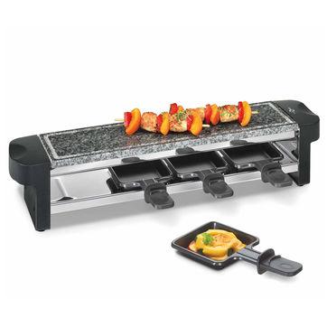 Küchenprofi - Quattro - raclette - grill stołowy - wymiary: 10 x 10,5 x 50 cm
