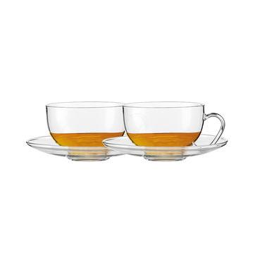 Jenaer Glas - Relax - 2 szklanki ze spodkami - pojemność: 0,37 l