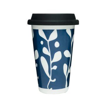 Sagaform - Cafe - porcelanowy kubek termiczny - pojemność: 0,25 l