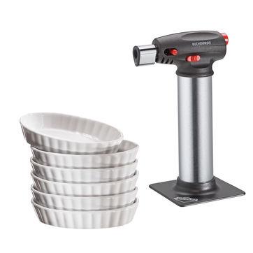 Küchenprofi - zestaw do crème brûlée - 6 naczyń i palnik
