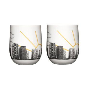 Sagaform - Cafe - 2 kubki o podwójnych ściankach - pojemność: 175 ml