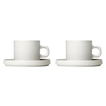 Blomus - Pilar - 2 filiżanki do kawy ze spodkami - pojemność: 0,2 l