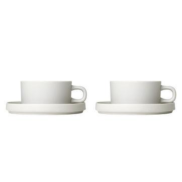 Blomus - Pilar - 2 filiżanki do herbaty ze spodkami - pojemność: 0,17 l