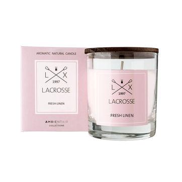 Lacrosse - świeca zapachowa - świeży len - czas palenia: do 40 godzin
