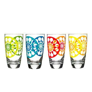 Sagaform - Juicy - 4 wysokie szklanki - pojemność: 0,47 l