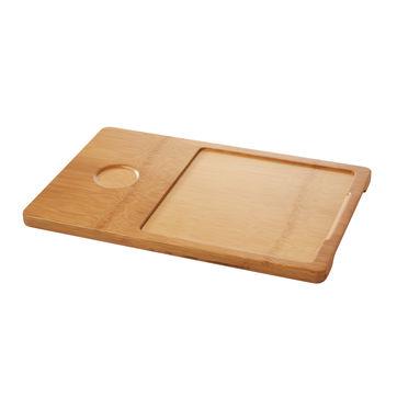 Revol - Basalt - taca pod talerz kwadratowy i miseczkę - wymiary: 37 x 24 cm; wymiary wcięcia: 20 x 20 cm