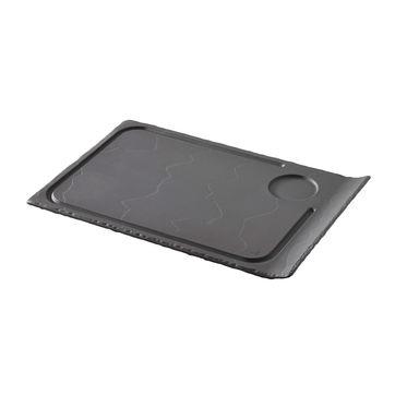 Revol - Basalt - talerz do steków - wymiary: 33 x 22 cm
