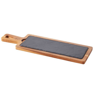 Revol - Basalt - zestaw do serwowania - wymiary: 43 x 14 cm; wymiary talerza: 30 x 11 cm