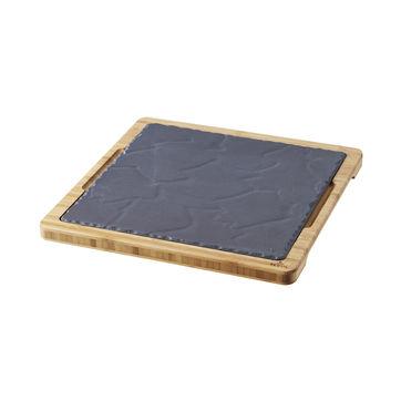 Revol - Basalt - zestaw do serwowania - wymiary: 29 x 29 cm; wymiary talerza: 25 x 25 cm