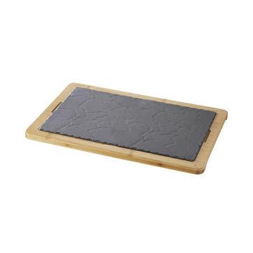 Revol - Basalt - zestaw do serwowania - wymiary: 28,5 x 15 cm; wymiary talerza: 25 x 12 cm