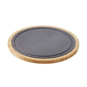 Revol - Basalt - zestaw do serwowania - średnica: 34 cm; średnica półmiska: 30 cm