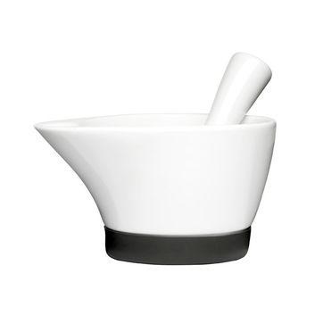 Sagaform - Herbs & Spices - moździerz ceramiczny - wymiary: 15 x 11 cm