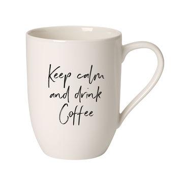 Villeroy & Boch - Keep calm and drink coffee - kubek - pojemność: 0,34 l