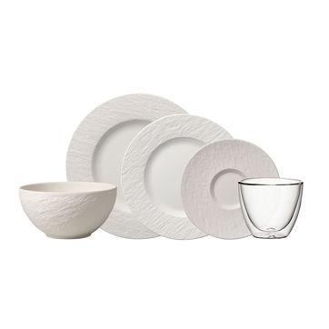 Villeroy & Boch - Manufacture Rock blanc - zestaw Starter - dla 2 osób; 10 elementów
