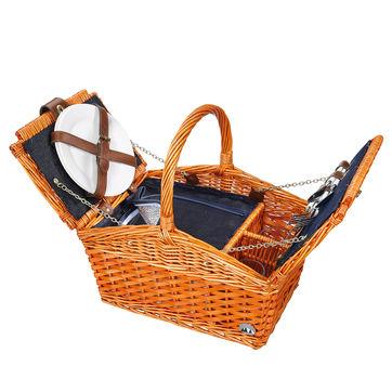 Cilio - Salerno - kosz piknikowy z wyposażeniem dla 2 osób - wymiary: 38 x 26 x 37 cm