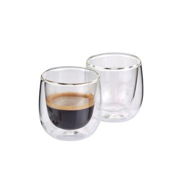 Cilio - Verona - 2 szklanki do espresso - pojemność: 0,08 l; podwójne ścianki