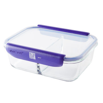 Mastrad - Stor'eat - dwukomorowy pojemnik na żywność - pojemność: 1,45 l