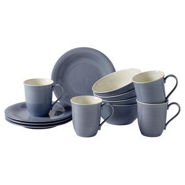 Villeroy & Boch - Color Loop Horizon - zestaw śniadaniowy - dla 4 osób; 12 elementów
