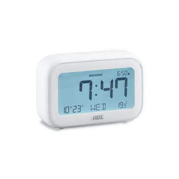 ADE - budzik elektroniczny z termometrem - wymiary: 11 x 4 x 7 cm