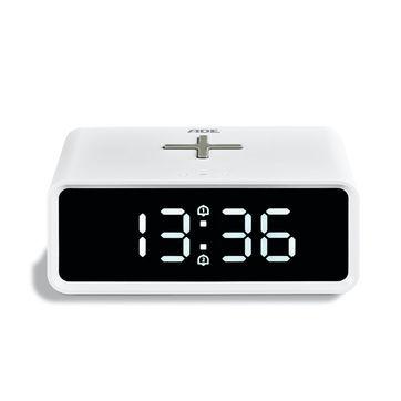 ADE - budzik z ładowarką bezprzewodową - wymiary: 14 x 9,5 x 6 cm