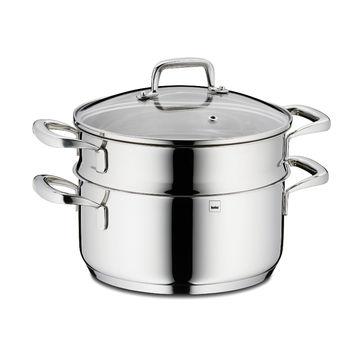 Kela - Flavoria - garnek z wkładem do gotowania na parze - pojemność: 2,4 l; średnica: 20 cm