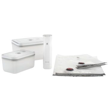 Zwilling - Fresh & Save - zestaw do pakowania próżniowego - pompka, 4 woreczki i 2 pojemniki z tworzywa