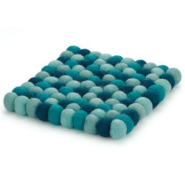 Cilio - Lana Azzurro - podkładka pod gorące naczynia - wymiary: 21 x 21 cm
