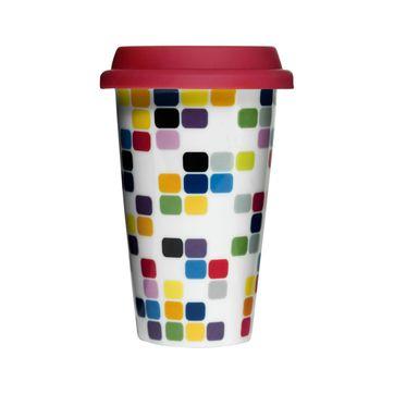 Sagaform - To Go - porcelanowy kubek termiczny - pojemność: 0,25 l
