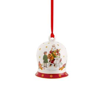 Villeroy & Boch - Annual Christmas Edition 2021 - zawieszka dzwoneczek - wysokość: 7 cm