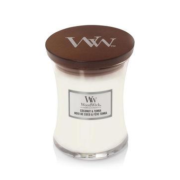 WoodWick - Coconut & Tonka - świeca zapachowa - pieczony kokos - czas palenia: do 65 godzin