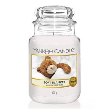 Yankee Candle - Soft Blanket - świeca zapachowa - wanilia i cytrusy - czas palenia: do 150 godzin