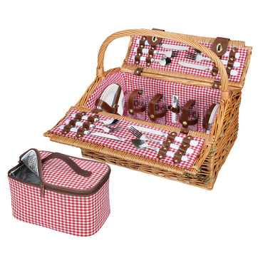 Cilio - Rivoli - kosz piknikowy z wyposażeniem dla 4 osób - wymiary: 46 x 31 x 41 cm