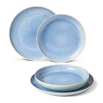 Villeroy & Boch - Crafted Blueberry - zestaw obiadowy - 4 elementy; dla 2 osób