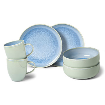 Villeroy & Boch - Crafted Blueberry - zestaw śniadaniowy - 6 elementów; dla 2 osób