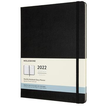 Moleskine - Classic - kalendarz miesięczny - 2022 - wymiary: 19 x 25 cm; twarda oprawa