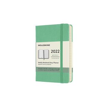 Moleskine - Classic - kalendarz tygodniowy - 2022 - wymiary: 9 x 14 cm; twarda oprawa