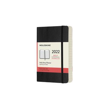 Moleskine - Classic - kalendarz dzienny - 2022 - wymiary: 9 x 14 cm; miękka oprawa