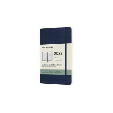 Moleskine - Classic - kalendarz tygodniowy horyzontalny - 2022 - wymiary: 9 x 14 cm; miękka oprawa