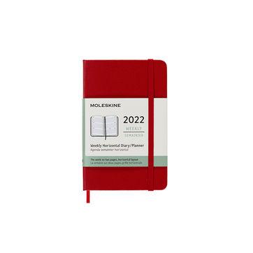 Moleskine - Classic - kalendarz tygodniowy horyzontalny - 2022 - wymiary: 9 x 14 cm; twarda oprawa